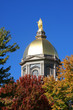 Notre Dame Golden Dome in Fall - 26754290
