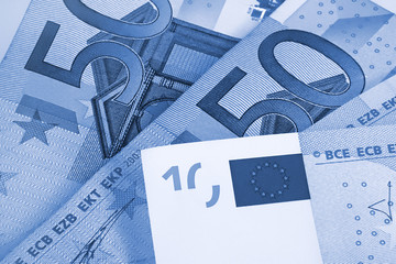 euro money abstract blue background