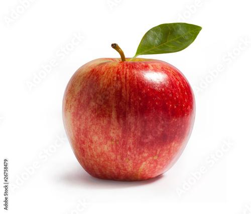 Leinwanddruck Bild rayal gala apple on white