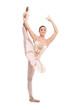 A beautiful ballerina dancer making a ballet