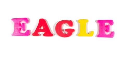 eagle written in fridge magnets