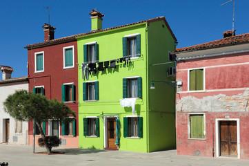 Wohnhäuser von Burano