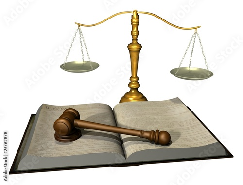 Legal Gavel and Book