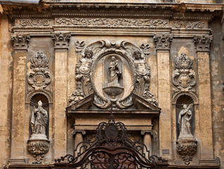 Rich decoration on a cathedral facade