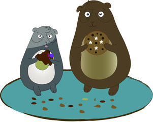 criceti con biscotti