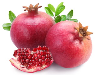Juicy pomegranates and its section.
