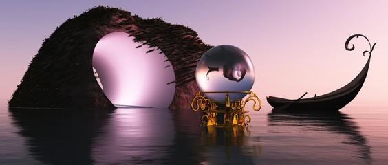 Die magische Kugel, das Elfenboot und die rosa Elfenhöhle