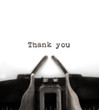 Thank You Typed by Vintage Typewriter