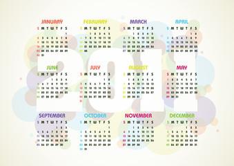vector calendar for 2011 year