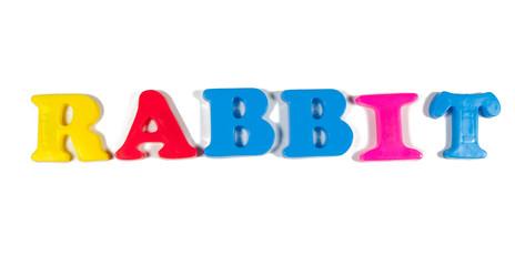 rabbit written in fridge magnets