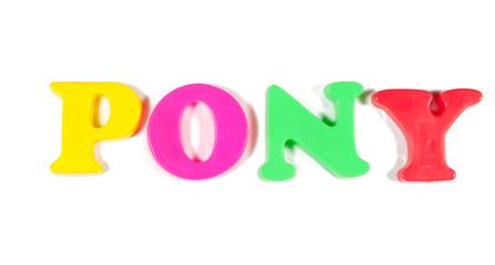 pony written in fridge magnets