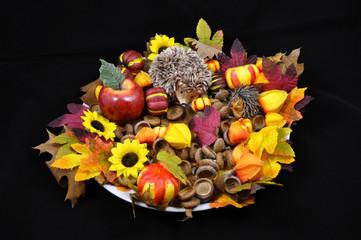 Stilleben Herbstschale Herbstmotiv