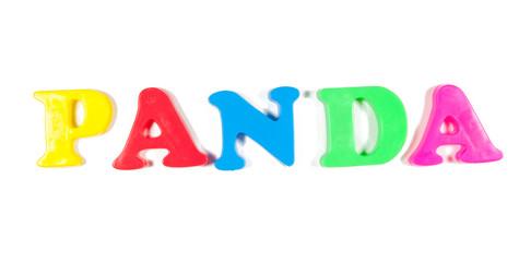 panda written in fridge magnets