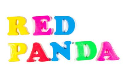red panda written in fridge magnets