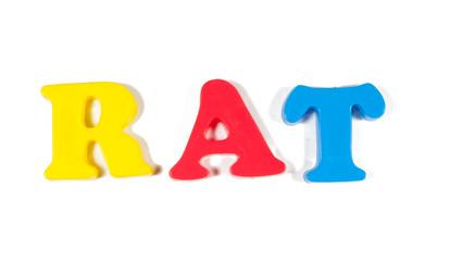rat written in fridge magnets