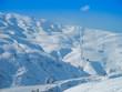 Ski slopes on bright sunny day