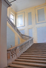 Italy Ravenna medieval palace stairs