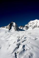 ghiacciaio del monte Bianco