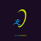 logo entreprise, audition, oreille poster