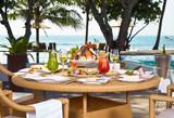 Lunch on the coast ocean