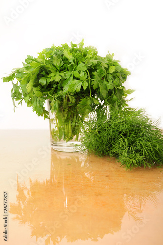 Parsley and celery