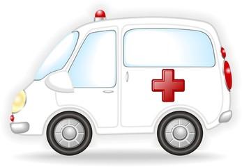 Auto Ambulanza-Ambulance-Vector