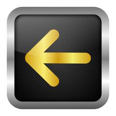 gold icon set - arrow left