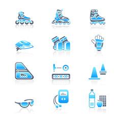 Inline skating icons | MARINE series