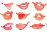 Set of lips