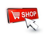 bouton boutique shop curseur flèche poster