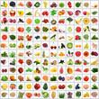 verdura e frutta full collage
