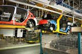Automotive industry manufacture poster