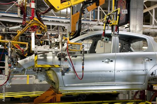Leinwanddruck Bild Automotive industry manufacture