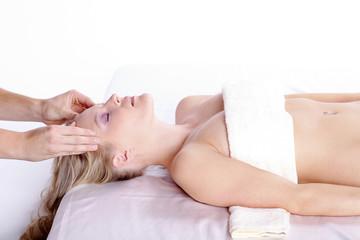 Schläfen Massage, Entspannung pur
