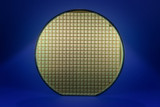 Silicon wafer with dark blue background poster