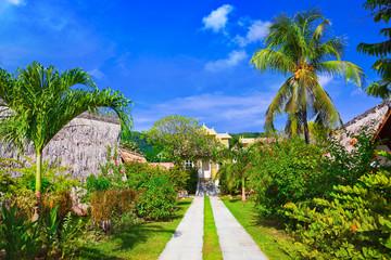 Villa at tropical beach