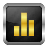 gold icon set - statistic