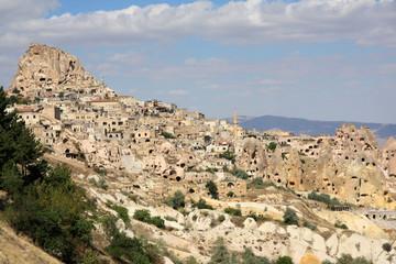 Le village et la forteresse d'Uchisar