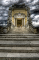 Dramatic sky above schonbrunn's Gloriette