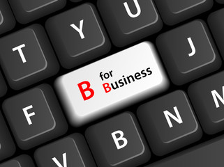 """B for Business"" Key on Keyboard (B2B customer service company)"