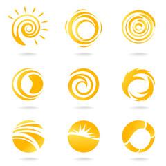 sun symbol vector set