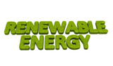 Renewable energy grass illustration poster