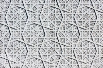 Oriental white wall ornament
