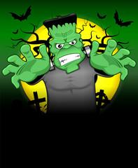 Frankenstein halloween background