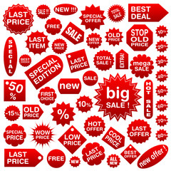 Shopping tags (labels) set 1