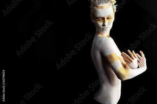 Fototapeten,ballerina,nackt,golden,schauspieler