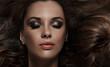 Quadro close up portrait of charming brunette