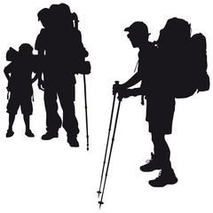 Backpacker Wanderung