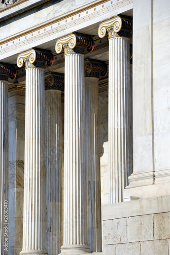 Columns of The National Academy of Athens (Greece)