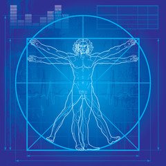 The Vitruvian man (Blueprint version)